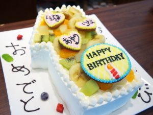 1の形ケーキ
